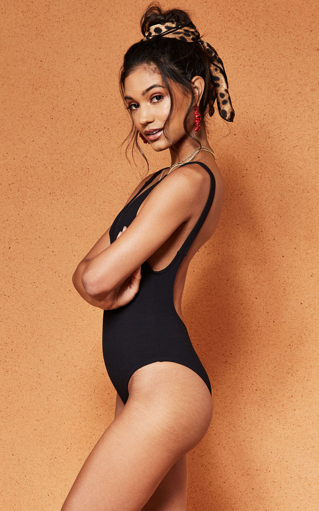 Black Badlands Ribbed Swimsuit by Charlie Holiday