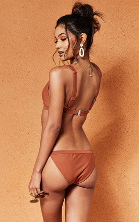 Rust Darna Bikini Bottoms by Charlie Holiday Product photo
