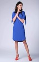 Cobalt Blue Loose Short Sleeved Tunic Dress by Bergamo