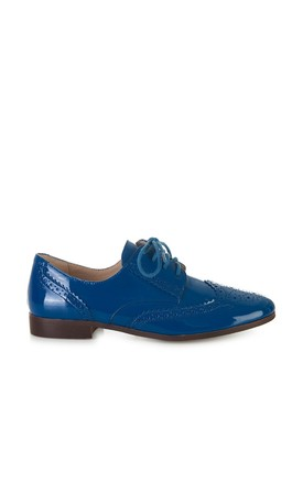 Flat Navy Blue Brogues by Yull Shoes
