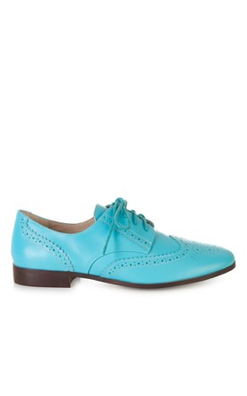 Flat Sky Blue Brogues by Yull Shoes