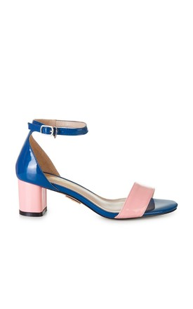 Blue and Pink Heeled Sandal by Yull Shoes