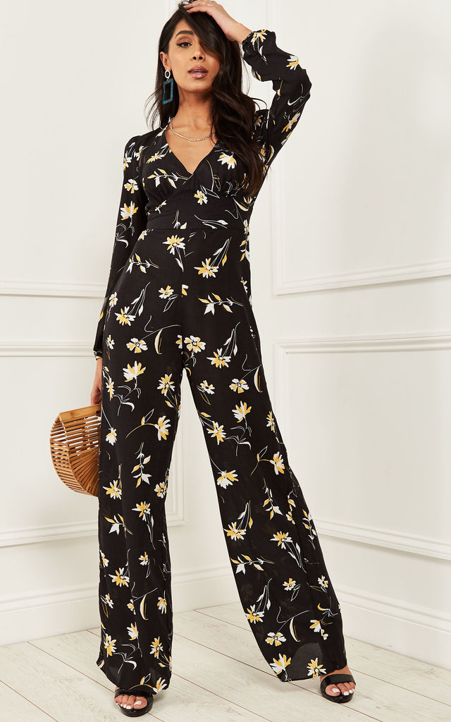 9533a82c2aa Lulu Floral Bell Sleeve V Neck Jumpsuit by Nobody s Child
