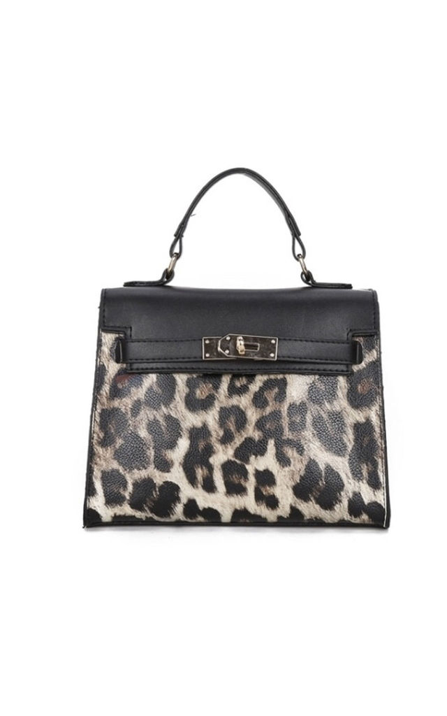 Mini North Bag in Leopard Print by Broke and Beautiful