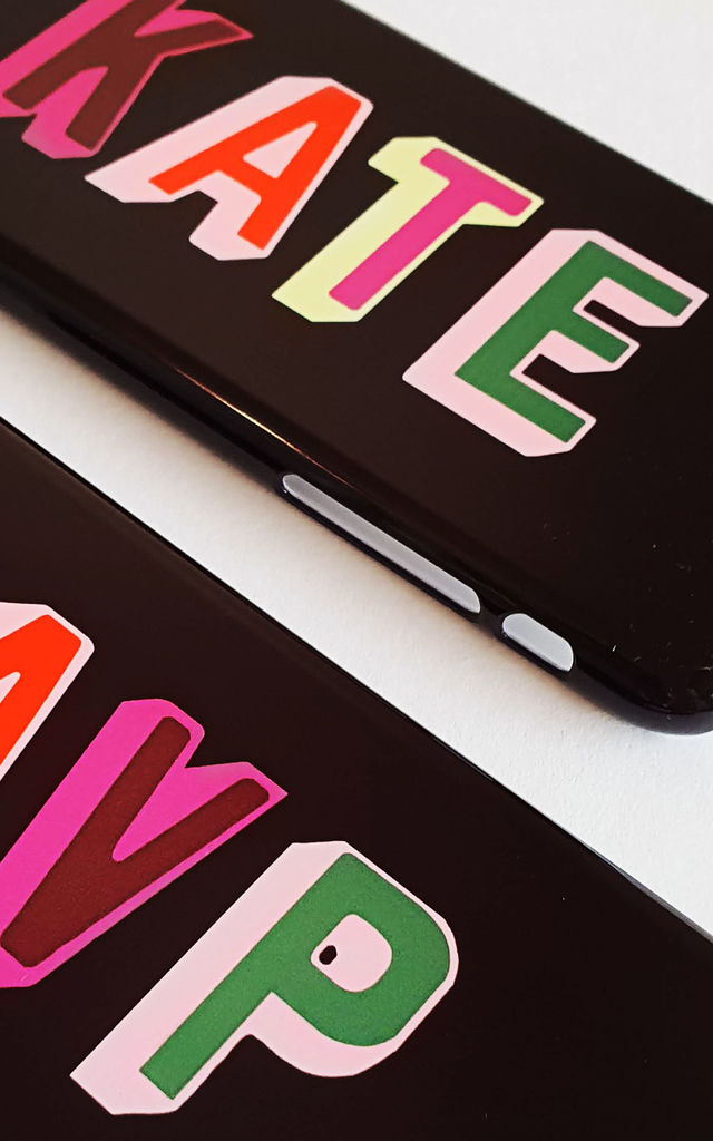 Love letters personalised glossy iPhone & Samsung case by Rianna Phillips