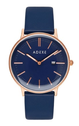 Meek Grande Watch In Blue by ADEXE Watches Product photo