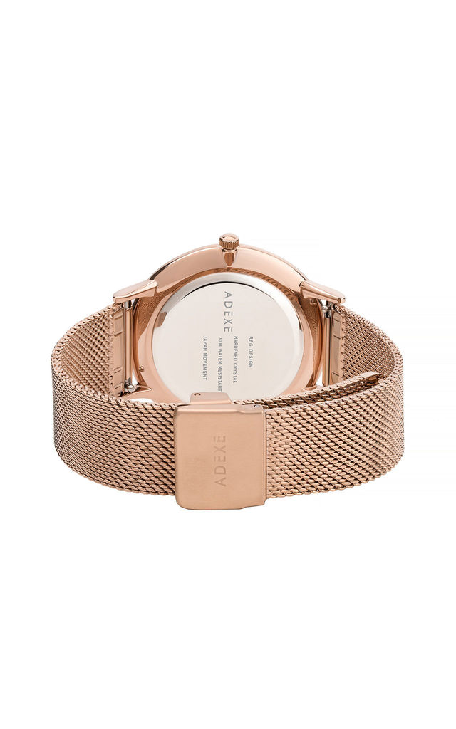 Meek Petite Rose Gold Watch by ADEXE Watches