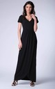 Black Wrap Front Maxi Dress by Bergamo
