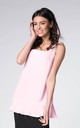 Pink Sleeveless Vest Tunic Top with Frill by Bergamo