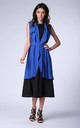 Cobalt Blue Long Sleeveless Jacket by Bergamo