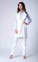 White Long Sleeveless Jacket by Bergamo