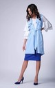 Light Blue Long Sleeveless Jacket by Bergamo
