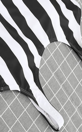 Striped Swimsuit in Black and White by Arcus Accessories