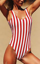 Striped Swimsuit in Red and White by Arcus Accessories