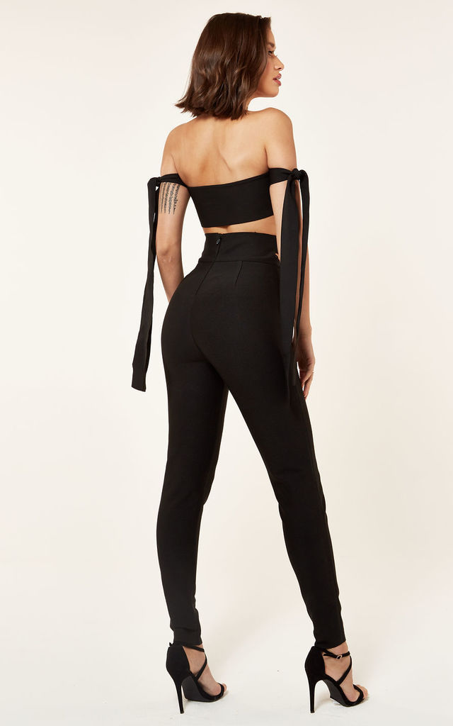 Black Bandage High Waist Cut Out Trouser by The Girlcode