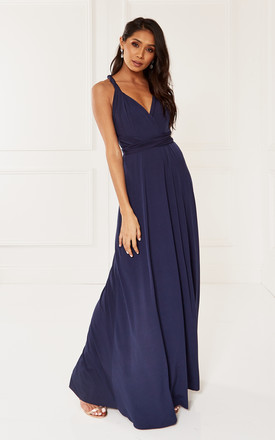 Exclusive Alexis Navy Multi Way Maxi Bridesmaid Dress by Revie London Product photo