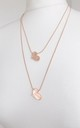 Rose Gold Necklace with Two Tier Hearts by Olivia Divine Jewellery