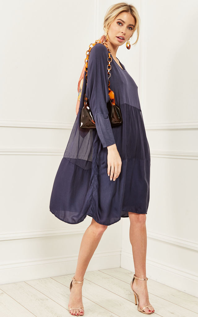 Navy 2 in 1 Layered Oversized Dress by Bella and Blue