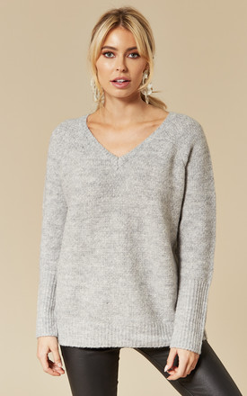 Light Grey V Neck Jumper by VILA Product photo