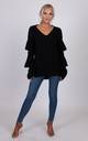 Verity knitted black jumper by Miss Attire