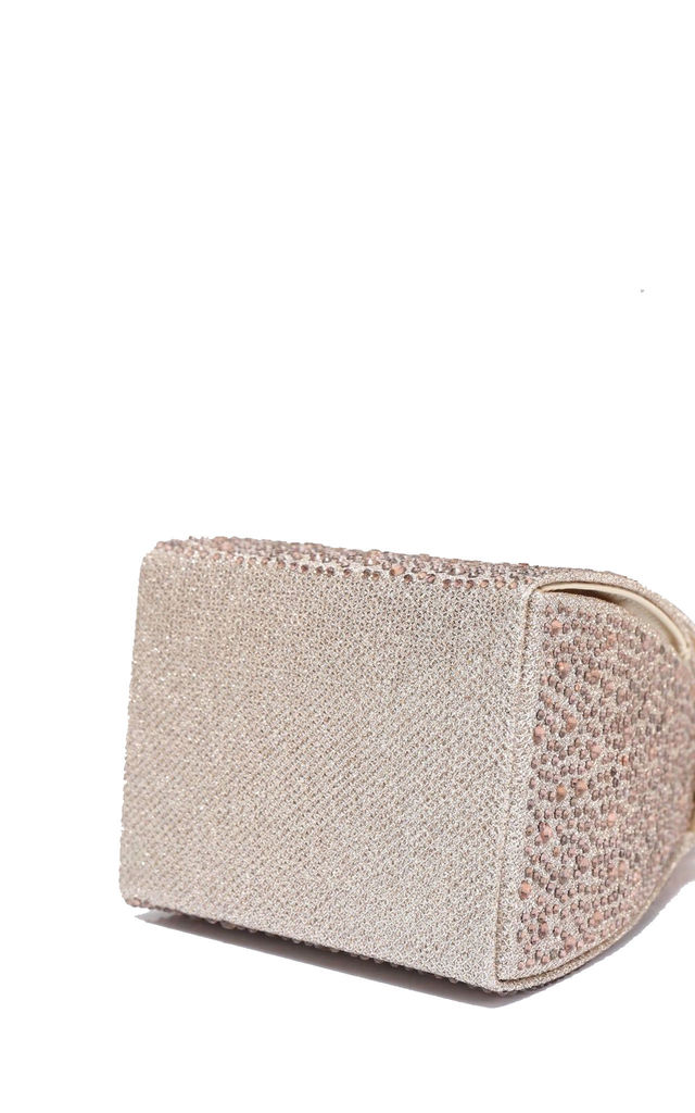 Triangular box pyramid diamond sequin wedding evening handbag by Hello Handbag