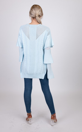 Verity knitted sky blue jumper by Miss Attire