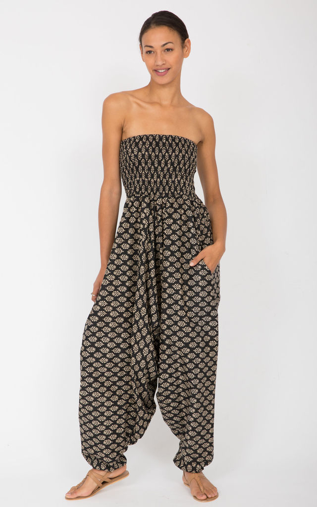 100% Cotton Harem Trouser Jumpsuit by likemary