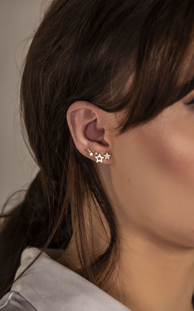 CUBIC ZIRCONIA STAR EAR CLIMBER by EPITOME JEWELLERY