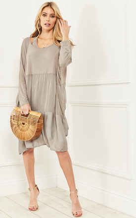 Mocha 2 In 1 Layered Oversized Dress by Bella and Blue Product photo