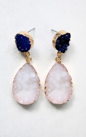 Aurora Druzy Tear Drop Earrings by AVAAYA Product photo