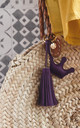 Get Your Goddess On Crown Purple Tassel Keyring by A Gift From The Gods