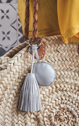 A Gift From The Gods Round Silver Tassel Keyring by A Gift From The Gods