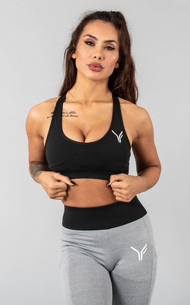 Vivekk Sports Bra In Black And Grey by Versa Forma Product photo