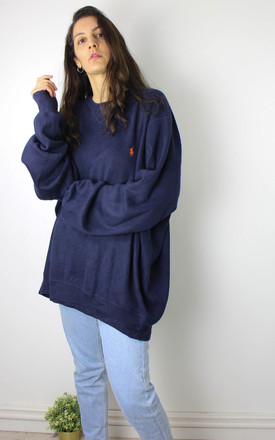 Vintage Polo Ralph Lauren Knit Jumper with Logo Front by Re:dream Vintage