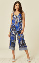 Vest Top and Culottes Co-Ord in Blue Forest Print by Lucy Sparks