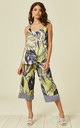 Vest Top and Culottes Co-Ord in Yellow Forest Print by Lucy Sparks