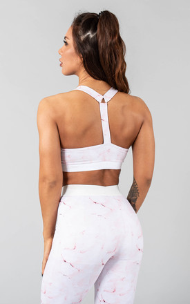 Postar Sports Bra in Pink Marble by Versa Forma