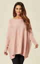 LEXAN – Pearl Oversized Batwing Blush Jumper by Blue Vanilla