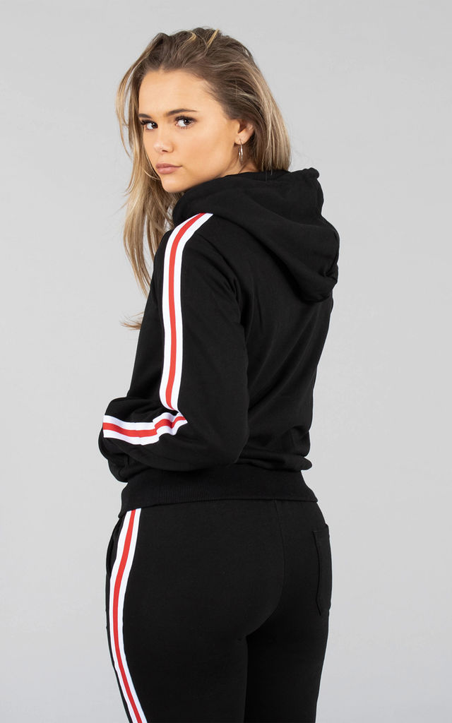 Sophia Track Hoodie in Black by Versa Forma