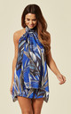 Blue Forest Print Co Halter Neck Co Ord by Lucy Sparks