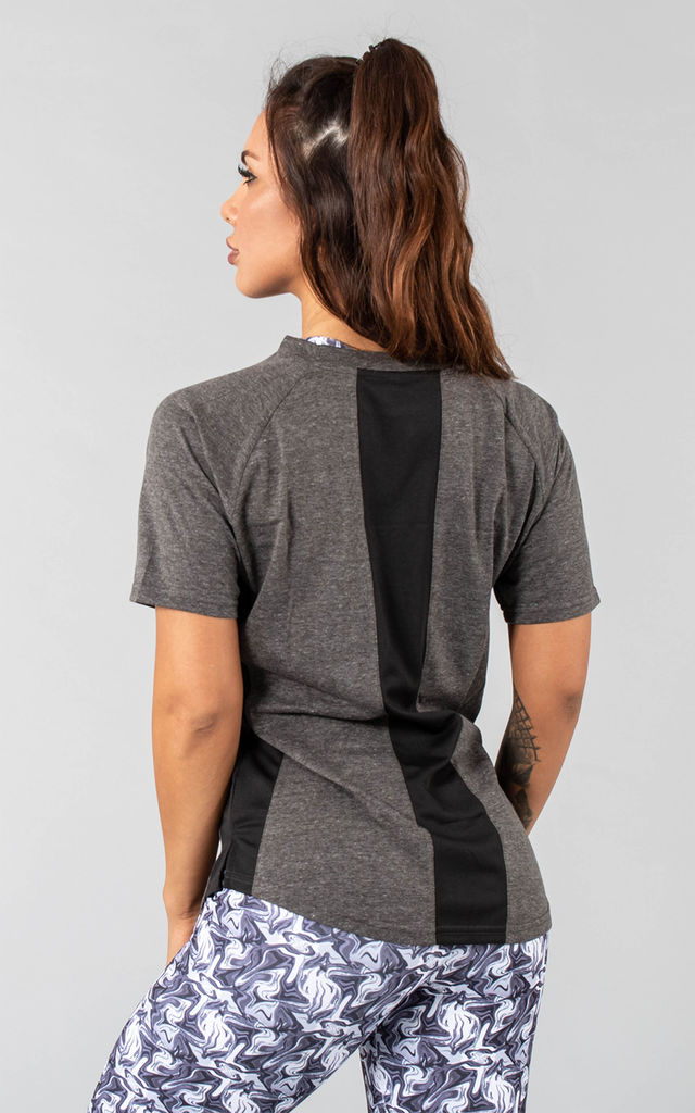 Femme Booksar Vented T-Shirt - Charcoal by Versa Forma