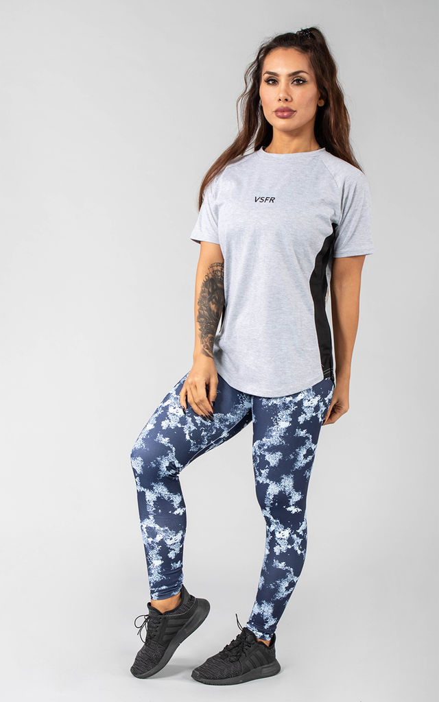 Femme Booksar Vented T-Shirt in Light Grey by Versa Forma
