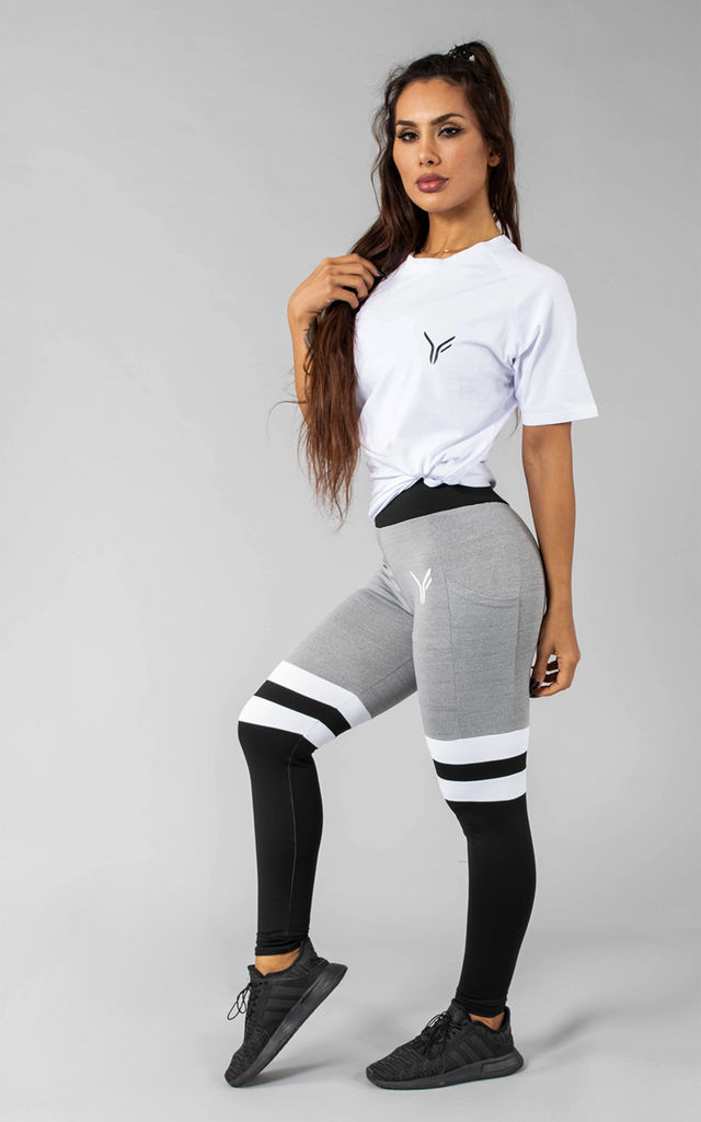 Femme Coms Sports T-Shirt in White by Versa Forma
