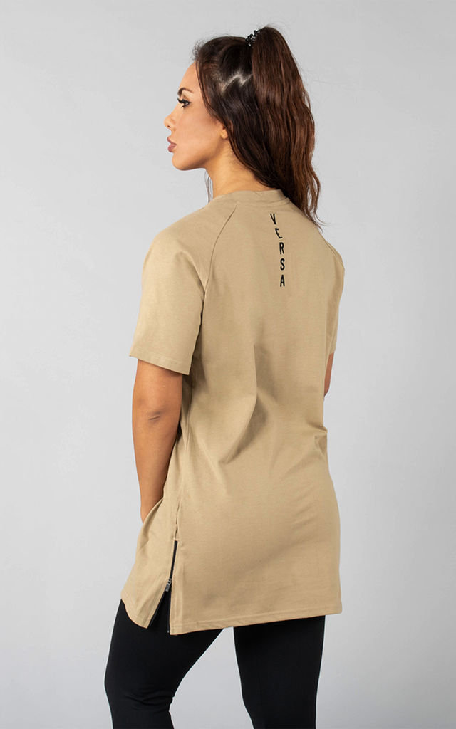 f65601d0cd48b Femme Vendor Oversized T Shirt In Lenox Tan | Versa Forma | SilkFred