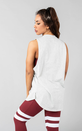 Femme Rogaan Relaxed Fit Vest Top in Whitecap Grey by Versa Forma