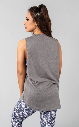 Femme Rogaan Relaxed Fit Vest Top in Steel Grey by Versa Forma