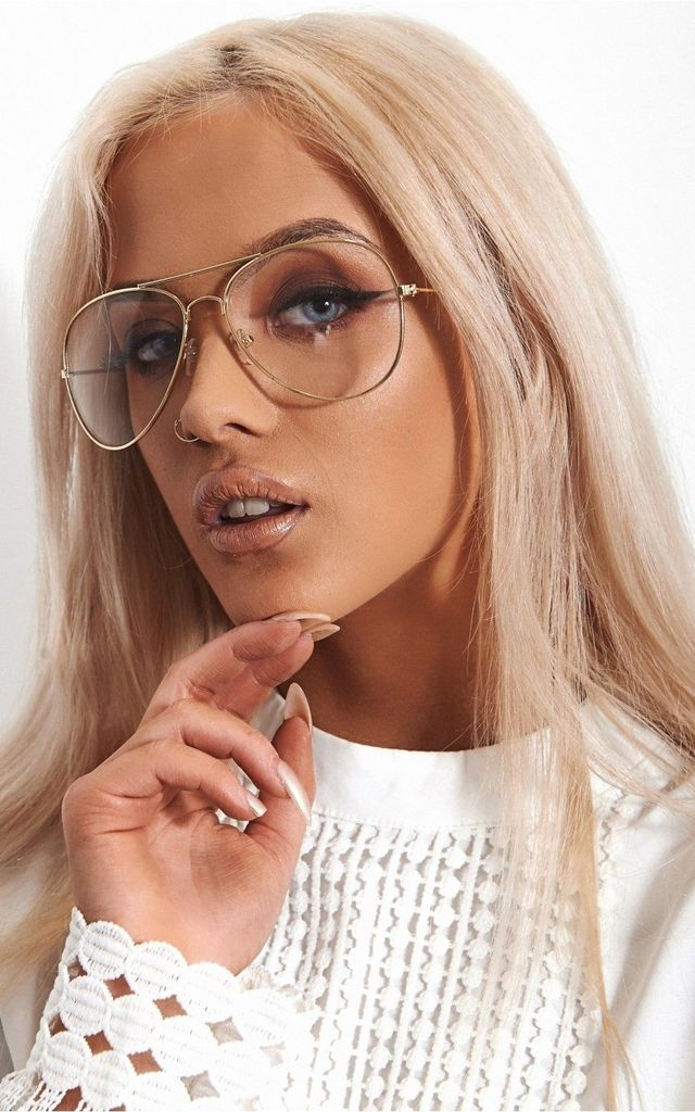 LAGUNA CLEAR LENS GOLD FASHION SPECS by The Fashion Bible