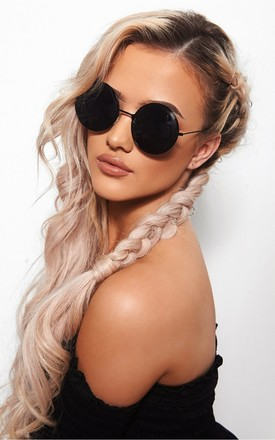 BLACK CIRCLE SUNGLASSES by The Fashion Bible
