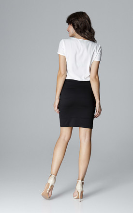 Black Skirt With Straps by LENITIF
