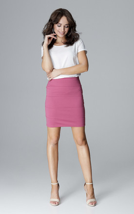 Pink Skirt With Straps by LENITIF
